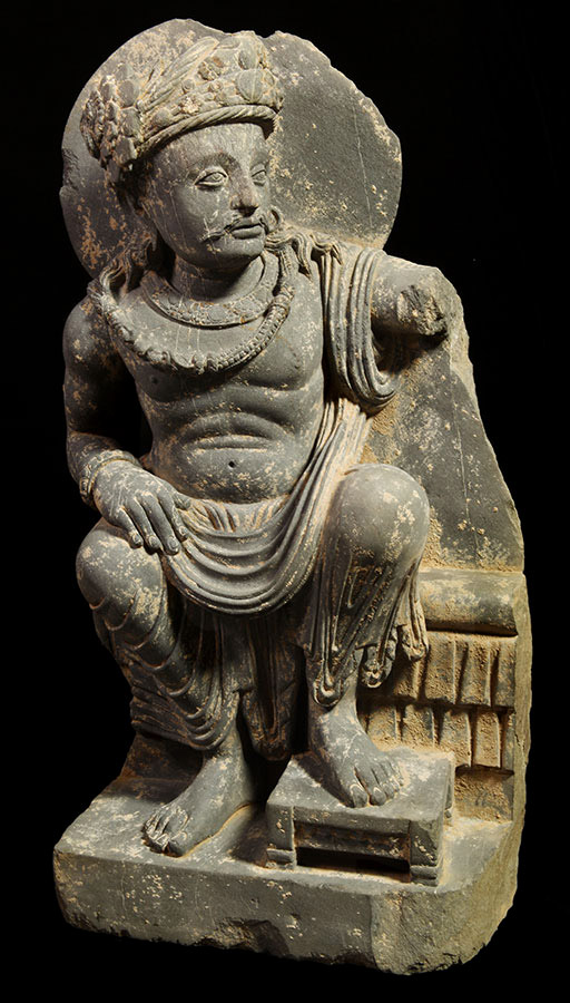 Nice sculpture of Panchika,consort of Hariti and commander of the Yakṣa army