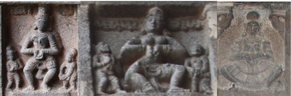 Shiva's karanas in Thiruvadigai; Kailasha and the home of