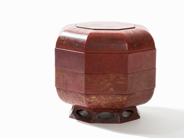 Red Lacquered Food Container (Jikirô),  Ryūkyū, 18th C.