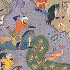 Ten Leaves from the Shahnameh - Siyavush and Afrasiyab in the Hunting Field