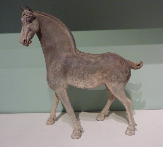 Large early Tang dynasty pottery horse