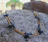 Egyptian Lapis Lazuli Necklace with modern gold